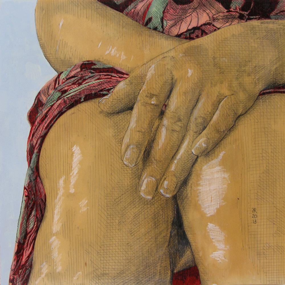 Judy Rogers: 100% silk, 30cm x 30cm. 2013